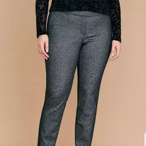 ❌CCO❌■Lane Bryant■(18) Allie Black & Silver Pant